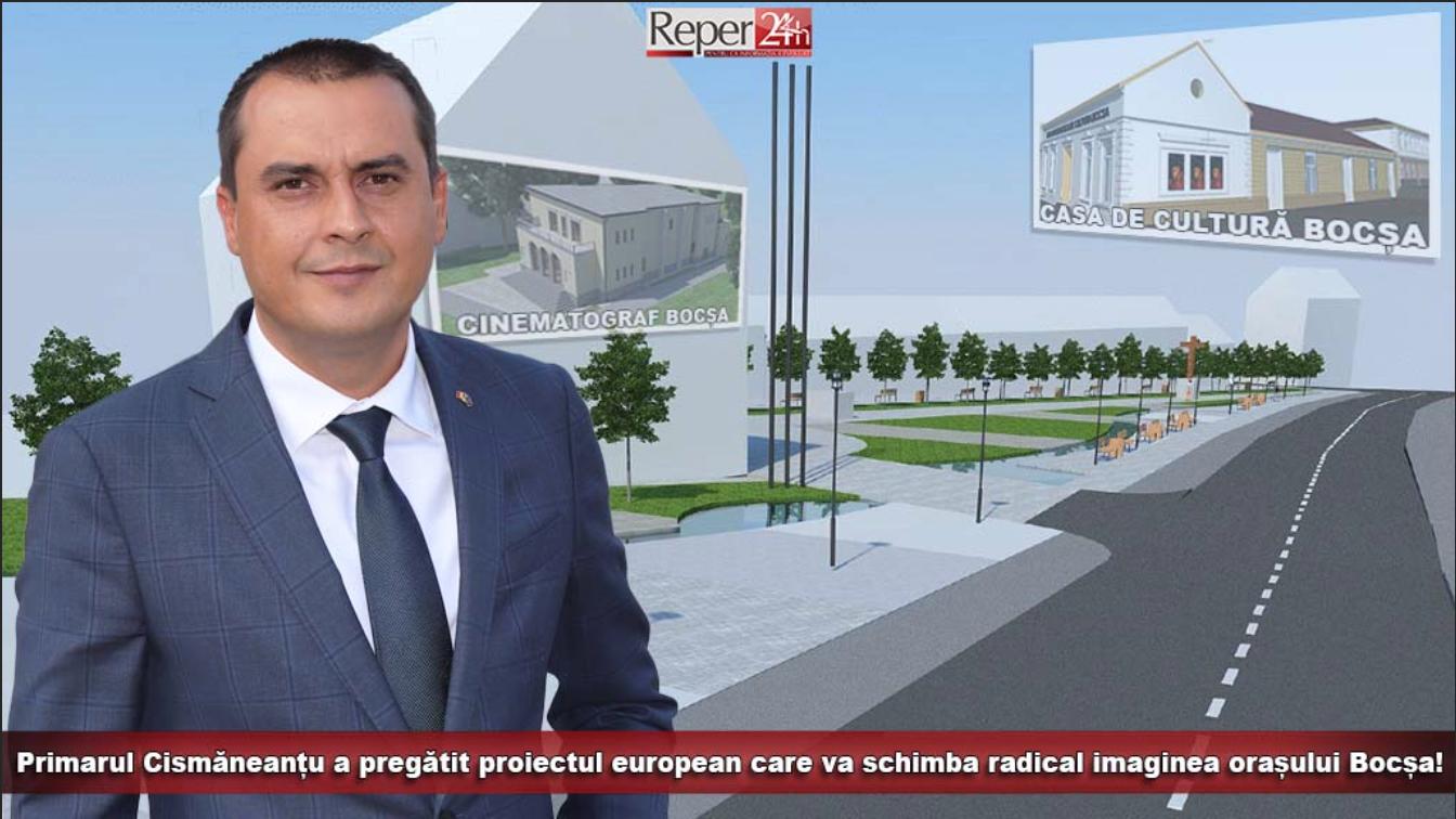Primarul Cismăneanțu a pregătit proiectul european care va schimba radical imaginea orașului Bocșa!