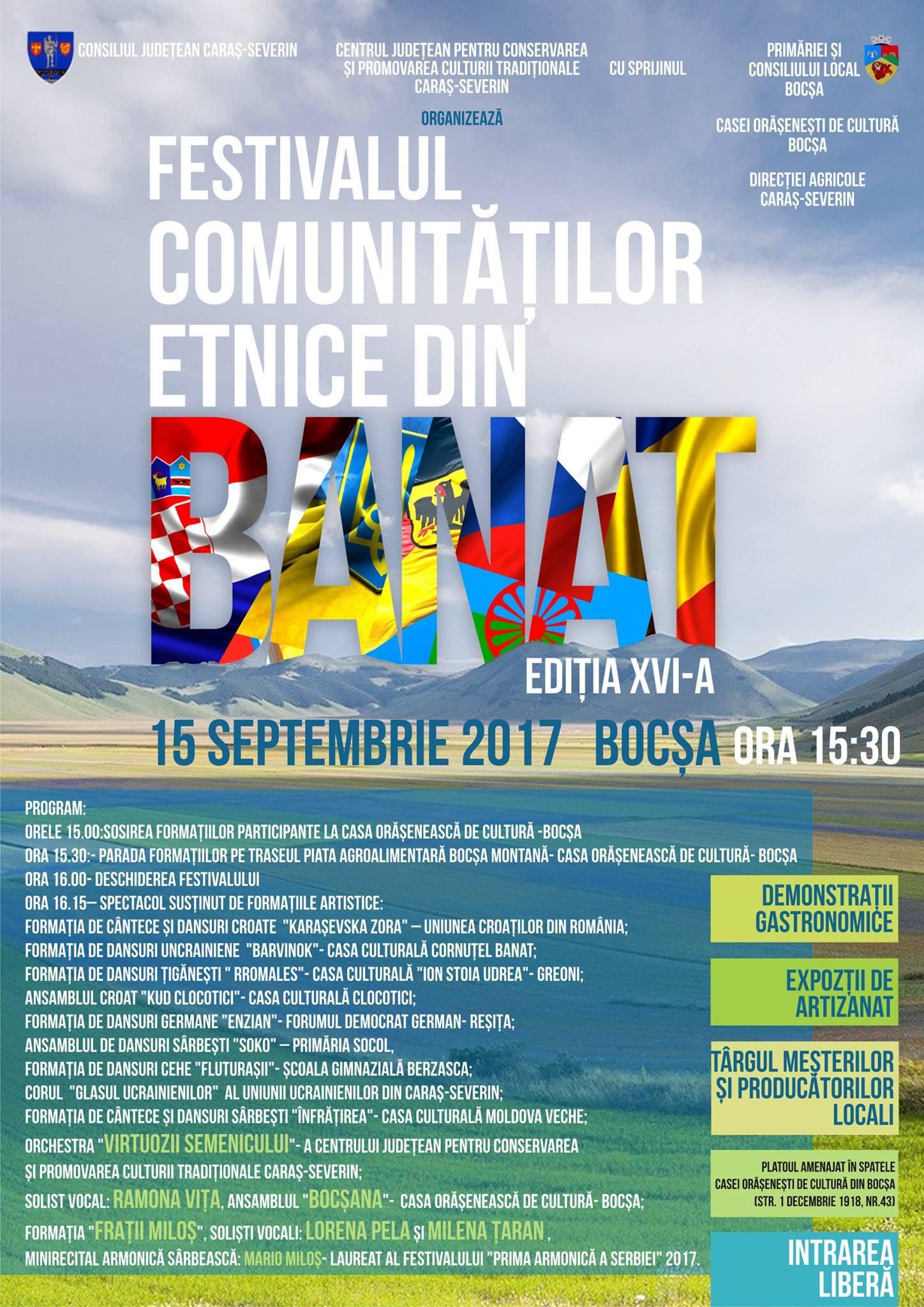 Festivalul comunităților etnice din Banat, ediția a XVI-a