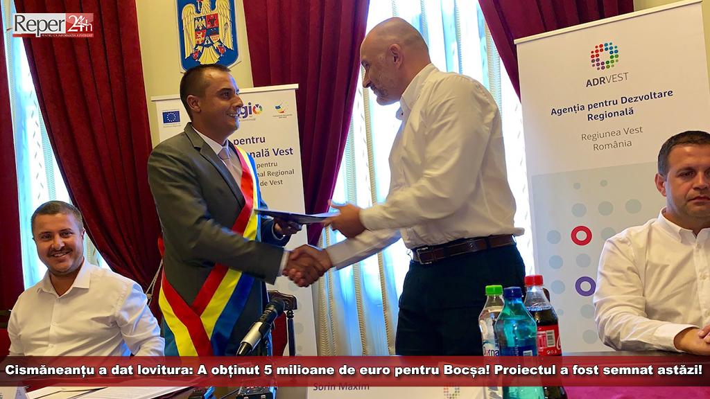 Cismăneanțu a dat lovitura: A obținut 5 milioane de euro pentru Bocșa! Proiectul a fost semnat astăzi